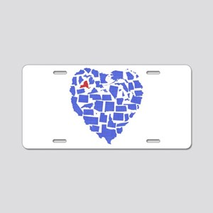 New York Heart Aluminum License Plate