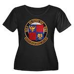 USS NEWM Women's Plus Size Scoop Neck Dark T-Shirt