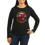 USS NEWMAN K. PER Women's Long Sleeve Dark T-Shirt
