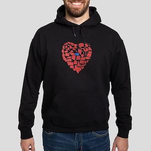 North Dakota Heart Hoodie (dark)