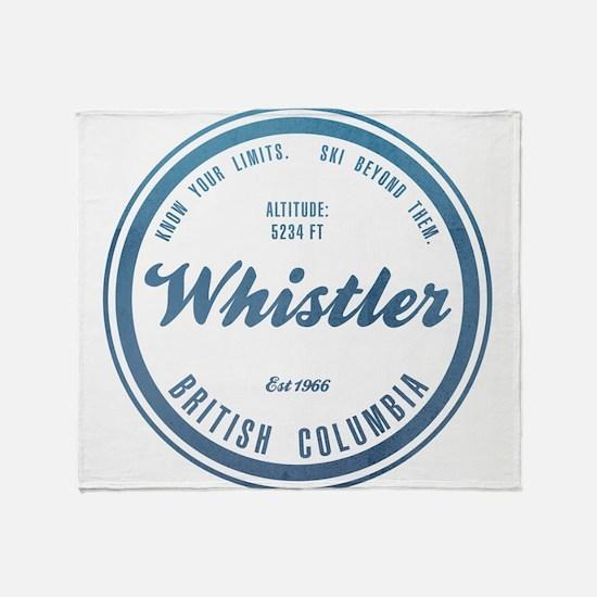Whistler Ski Resort British Columbia Throw Blanket