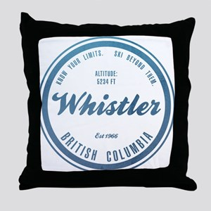 Whistler Ski Resort British Columbia Throw Pillow