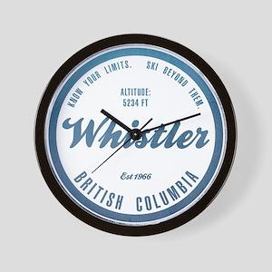Whistler Ski Resort British Columbia Wall Clock