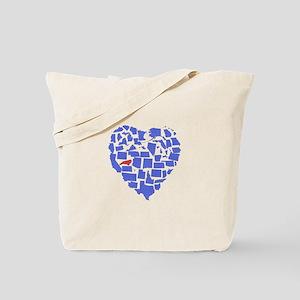 North Carolina Heart Tote Bag