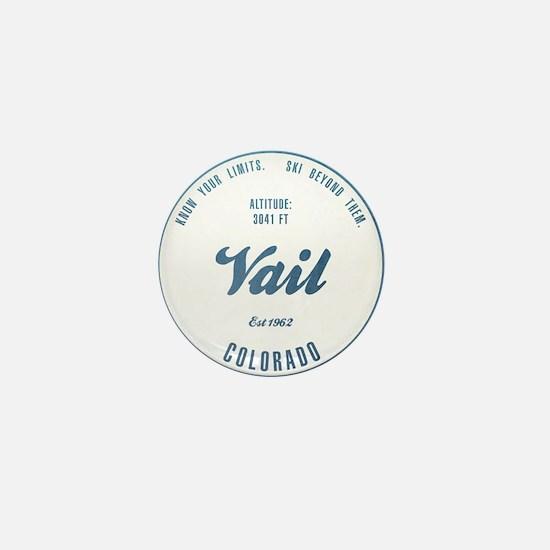 Vail Ski Resort Colorado Mini Button
