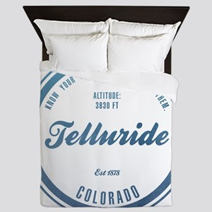 Telluride Ski Resort Colorado Queen Duvet