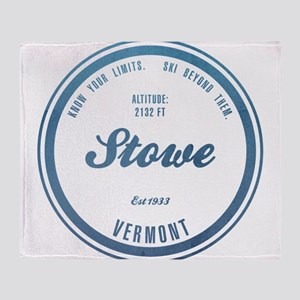 Stowe Ski Resort Vermont Throw Blanket