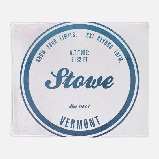Stowe Ski Resort Vermont Throw Blanket