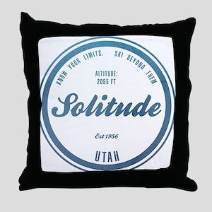 Solitude Ski Resort Utah Throw Pillow