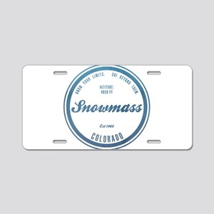 Snowmass Ski Resort Colorado Aluminum License Plat