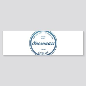 Snowmass Ski Resort Colorado Bumper Sticker
