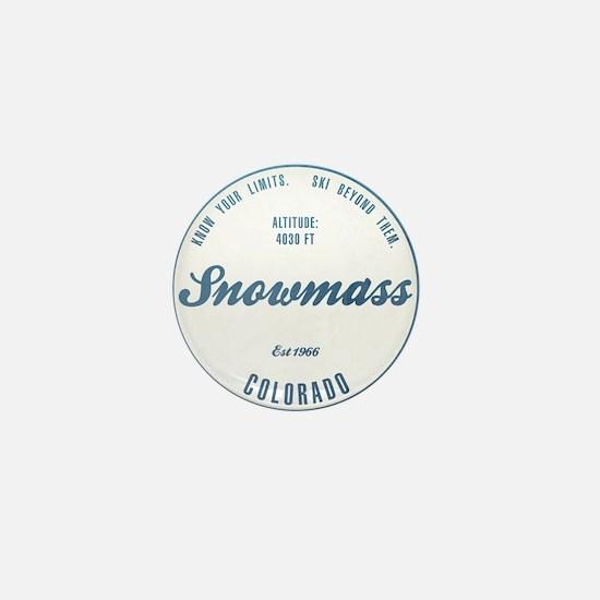 Snowmass Ski Resort Colorado Mini Button
