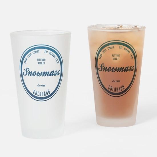 Snowmass Ski Resort Colorado Drinking Glass