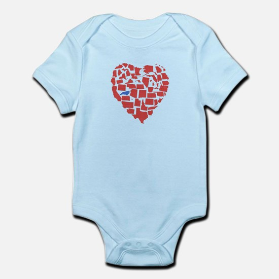 North Carolina Heart Infant Bodysuit