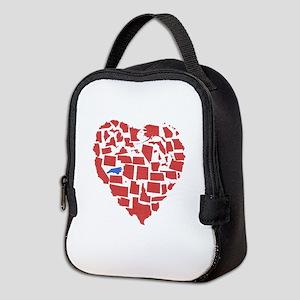 North Carolina Heart Neoprene Lunch Bag