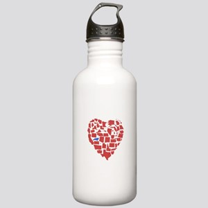 North Carolina Heart Stainless Water Bottle 1.0L