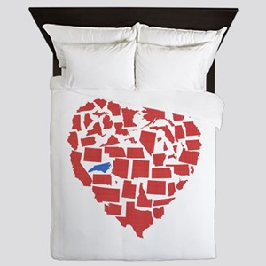 North Carolina Heart Queen Duvet