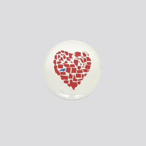 North Carolina Heart Mini Button