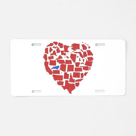 North Carolina Heart Aluminum License Plate