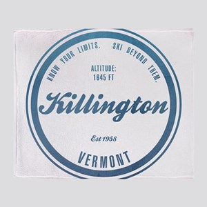Killington Ski Resort Vermont Throw Blanket
