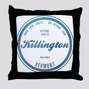 Killington Ski Resort Vermont Throw Pillow