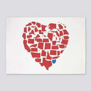Ohio Heart 5'x7'Area Rug