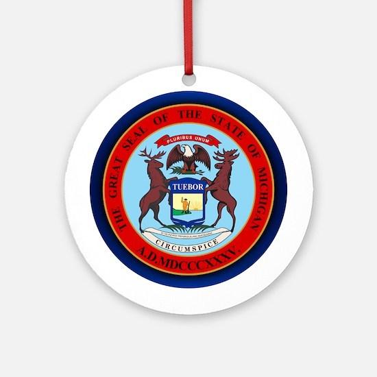 Michigan Seal Ornament (Round)