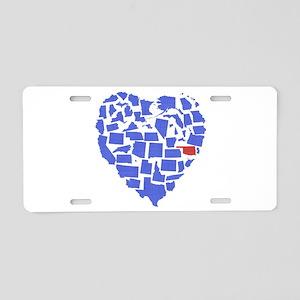 Oklahoma Heart Aluminum License Plate