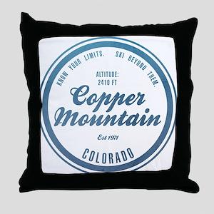 Copper Mountain Ski Resort Colorado Throw Pillow