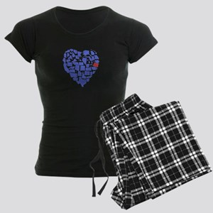Oregon Heart Women's Dark Pajamas