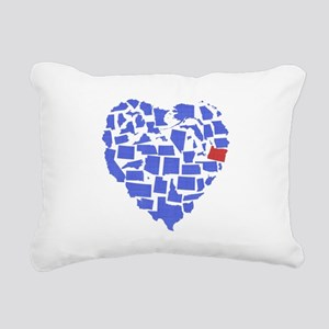 Oregon Heart Rectangular Canvas Pillow