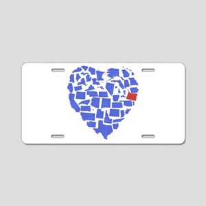 Oregon Heart Aluminum License Plate