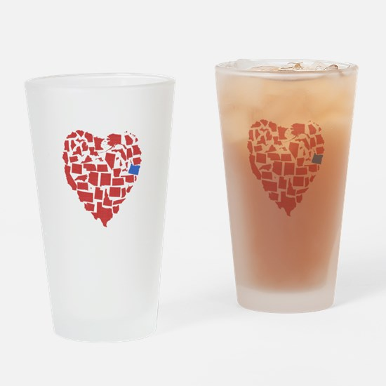 Oregon Heart Drinking Glass