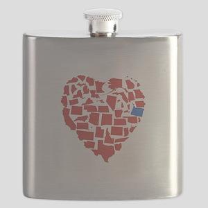 Oregon Heart Flask