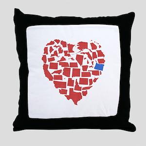 Oregon Heart Throw Pillow