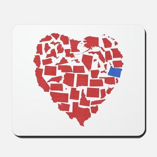 Oregon Heart Mousepad