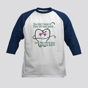 Keep Flossing! Dentist Kids Baseball Jersey
