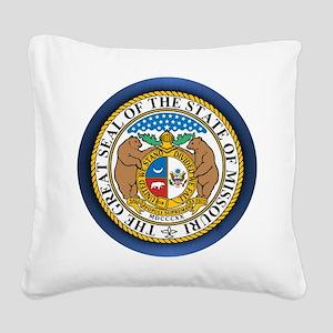 Missouri Seal Square Canvas Pillow
