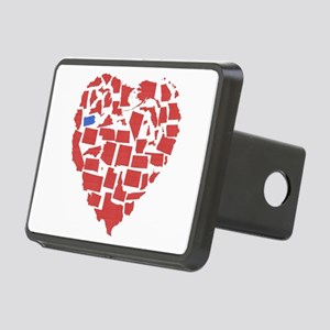 Oregon Heart Rectangular Hitch Cover