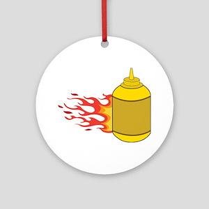 Mustard Bottle Ornament (Round)