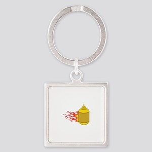 Mustard Bottle Keychains