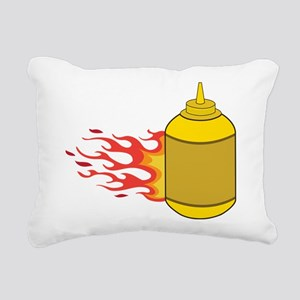 Mustard Bottle Rectangular Canvas Pillow