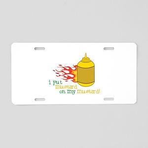 Mustard Aluminum License Plate