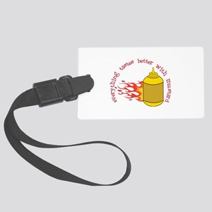 Better With Mustard Luggage Tag