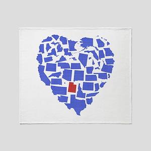 Utah Heart Throw Blanket