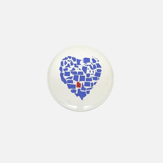 Utah Heart Mini Button