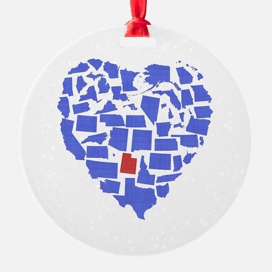 Utah Heart Ornament