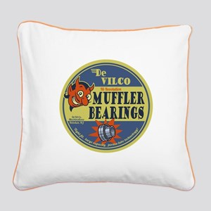 DeVilco Muffler Bearings Square Canvas Pillow