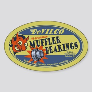 DeVilco Muffler Bearings Sticker (Oval)