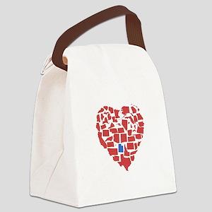 Utah Heart Canvas Lunch Bag